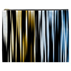 Digitally Created Striped Abstract Background Texture Cosmetic Bag (xxxl)  by Simbadda