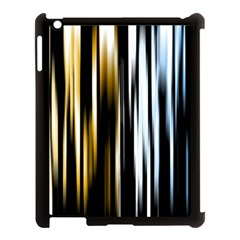Digitally Created Striped Abstract Background Texture Apple Ipad 3/4 Case (black) by Simbadda
