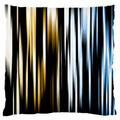 Digitally Created Striped Abstract Background Texture Large Flano Cushion Case (two Sides) by Simbadda