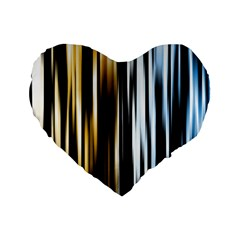 Digitally Created Striped Abstract Background Texture Standard 16  Premium Flano Heart Shape Cushions by Simbadda