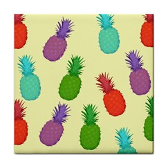 Colorful Pineapples Wallpaper Background Tile Coasters by Simbadda