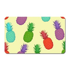 Colorful Pineapples Wallpaper Background Magnet (rectangular) by Simbadda