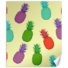 Colorful Pineapples Wallpaper Background Canvas 8  X 10  by Simbadda