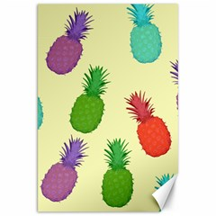 Colorful Pineapples Wallpaper Background Canvas 20  X 30   by Simbadda