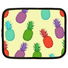 Colorful Pineapples Wallpaper Background Netbook Case (xxl)  by Simbadda