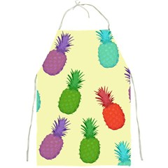 Colorful Pineapples Wallpaper Background Full Print Aprons by Simbadda