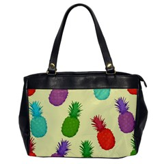 Colorful Pineapples Wallpaper Background Office Handbags by Simbadda