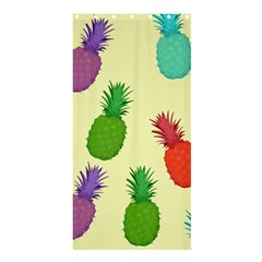 Colorful Pineapples Wallpaper Background Shower Curtain 36  X 72  (stall)  by Simbadda