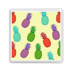 Colorful Pineapples Wallpaper Background Memory Card Reader (square)  by Simbadda