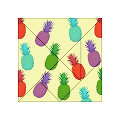 Colorful Pineapples Wallpaper Background Acrylic Tangram Puzzle (4  X 4 ) by Simbadda