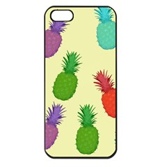 Colorful Pineapples Wallpaper Background Apple Iphone 5 Seamless Case (black) by Simbadda