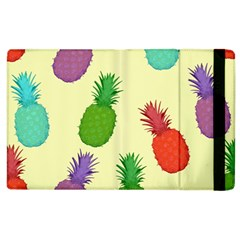 Colorful Pineapples Wallpaper Background Apple Ipad 2 Flip Case by Simbadda