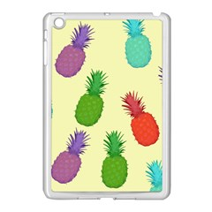 Colorful Pineapples Wallpaper Background Apple Ipad Mini Case (white) by Simbadda