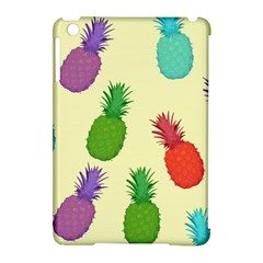 Colorful Pineapples Wallpaper Background Apple Ipad Mini Hardshell Case (compatible With Smart Cover) by Simbadda