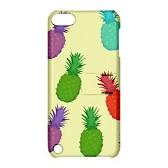 Colorful Pineapples Wallpaper Background Apple Ipod Touch 5 Hardshell Case With Stand by Simbadda
