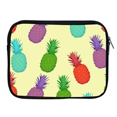 Colorful Pineapples Wallpaper Background Apple Ipad 2/3/4 Zipper Cases by Simbadda