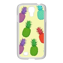 Colorful Pineapples Wallpaper Background Samsung Galaxy S4 I9500/ I9505 Case (white) by Simbadda
