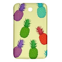 Colorful Pineapples Wallpaper Background Samsung Galaxy Tab 3 (7 ) P3200 Hardshell Case  by Simbadda