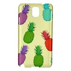 Colorful Pineapples Wallpaper Background Samsung Galaxy Note 3 N9005 Hardshell Case by Simbadda
