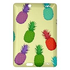Colorful Pineapples Wallpaper Background Amazon Kindle Fire Hd (2013) Hardshell Case by Simbadda