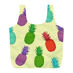 Colorful Pineapples Wallpaper Background Full Print Recycle Bags (l)  by Simbadda