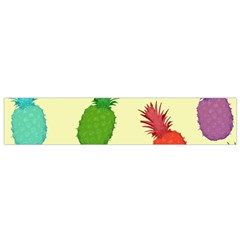 Colorful Pineapples Wallpaper Background Flano Scarf (small) by Simbadda