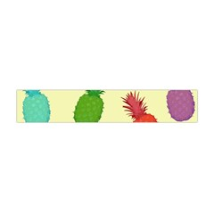 Colorful Pineapples Wallpaper Background Flano Scarf (mini) by Simbadda