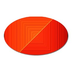 Abstract Clutter Baffled Field Oval Magnet by Simbadda