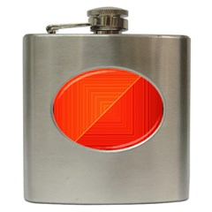 Abstract Clutter Baffled Field Hip Flask (6 Oz) by Simbadda