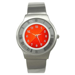 Abstract Clutter Baffled Field Stainless Steel Watch by Simbadda