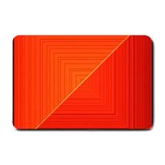 Abstract Clutter Baffled Field Small Doormat  by Simbadda