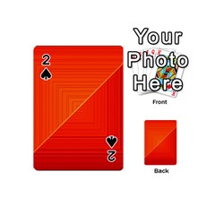 Abstract Clutter Baffled Field Playing Cards 54 (mini)  by Simbadda