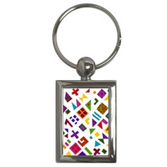A Colorful Modern Illustration For Lovers Key Chains (rectangle)  by Simbadda