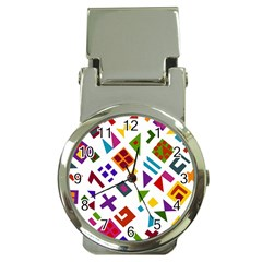 A Colorful Modern Illustration For Lovers Money Clip Watches by Simbadda