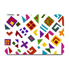 A Colorful Modern Illustration For Lovers Plate Mats by Simbadda