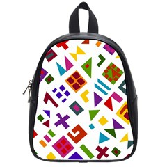 A Colorful Modern Illustration For Lovers School Bags (small)  by Simbadda