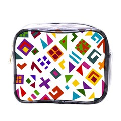 A Colorful Modern Illustration For Lovers Mini Toiletries Bags by Simbadda