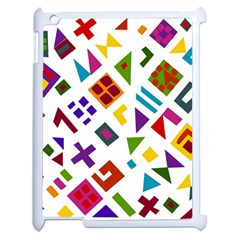 A Colorful Modern Illustration For Lovers Apple Ipad 2 Case (white) by Simbadda