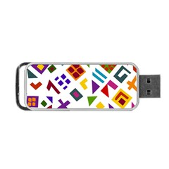 A Colorful Modern Illustration For Lovers Portable Usb Flash (one Side) by Simbadda