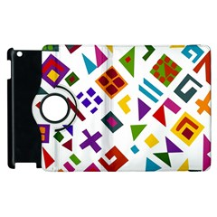 A Colorful Modern Illustration For Lovers Apple Ipad 3/4 Flip 360 Case by Simbadda