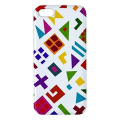 A Colorful Modern Illustration For Lovers Apple Iphone 5 Premium Hardshell Case by Simbadda