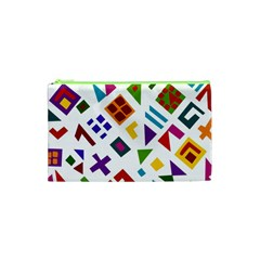 A Colorful Modern Illustration For Lovers Cosmetic Bag (xs) by Simbadda