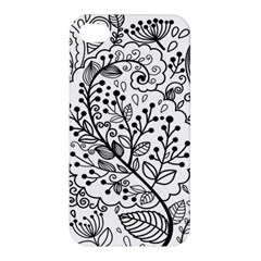 Black Abstract Floral Background Apple Iphone 4/4s Premium Hardshell Case by Simbadda