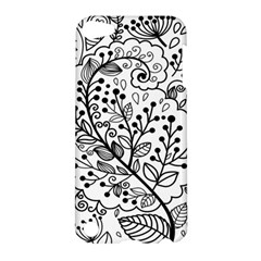 Black Abstract Floral Background Apple Ipod Touch 5 Hardshell Case by Simbadda