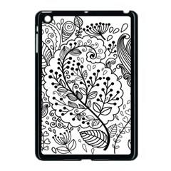 Black Abstract Floral Background Apple Ipad Mini Case (black) by Simbadda