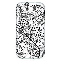 Black Abstract Floral Background Samsung Galaxy S3 S Iii Classic Hardshell Back Case by Simbadda