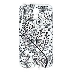Black Abstract Floral Background Samsung Galaxy S4 I9500/i9505 Hardshell Case by Simbadda
