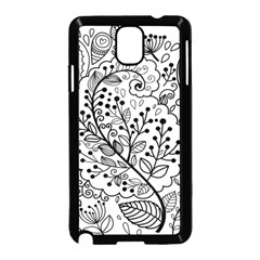 Black Abstract Floral Background Samsung Galaxy Note 3 Neo Hardshell Case (black) by Simbadda