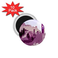 Abstract Painting Edinburgh Capital Of Scotland 1 75  Magnets (10 Pack)