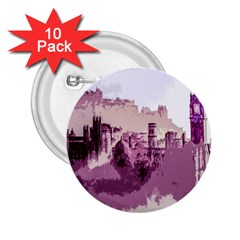 Abstract Painting Edinburgh Capital Of Scotland 2 25  Buttons (10 Pack)  by Simbadda